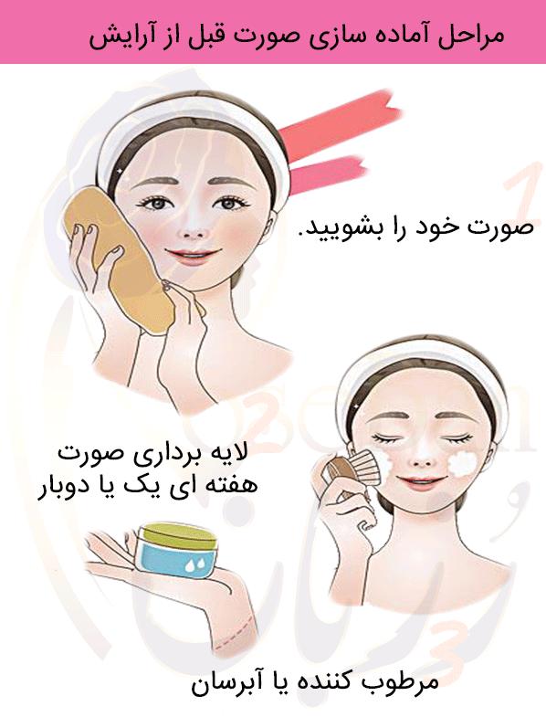 آماده سازی صورت برای آرایش ساده