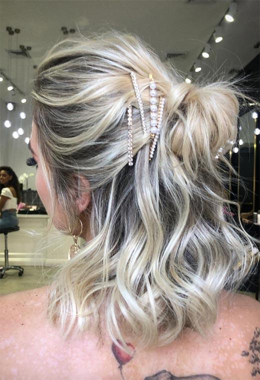 half up half down hairstyles ideas13