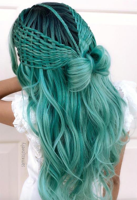 half up half down hairstyles ideas14
