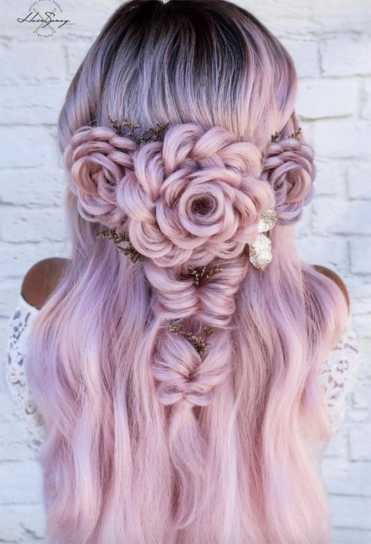 half up half down hairstyles ideas16