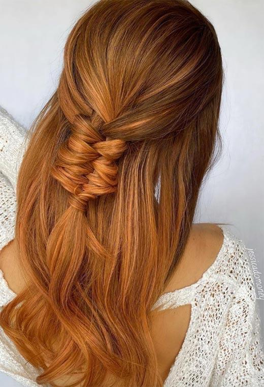 half up half down hairstyles ideas18