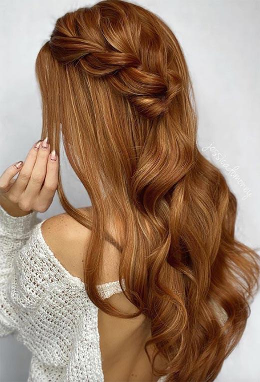 half up half down hairstyles ideas26