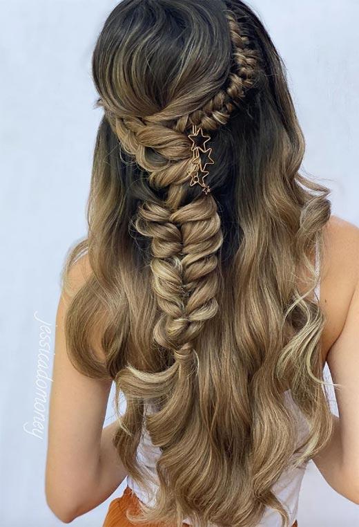 half up half down hairstyles ideas27