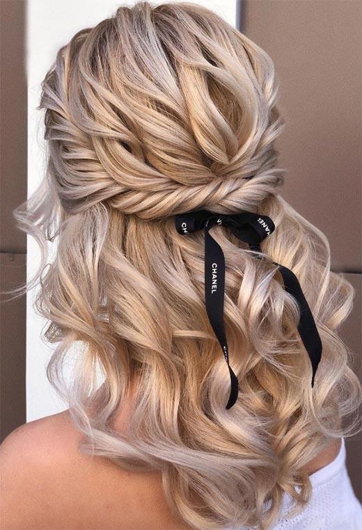 half up half down hairstyles ideas28