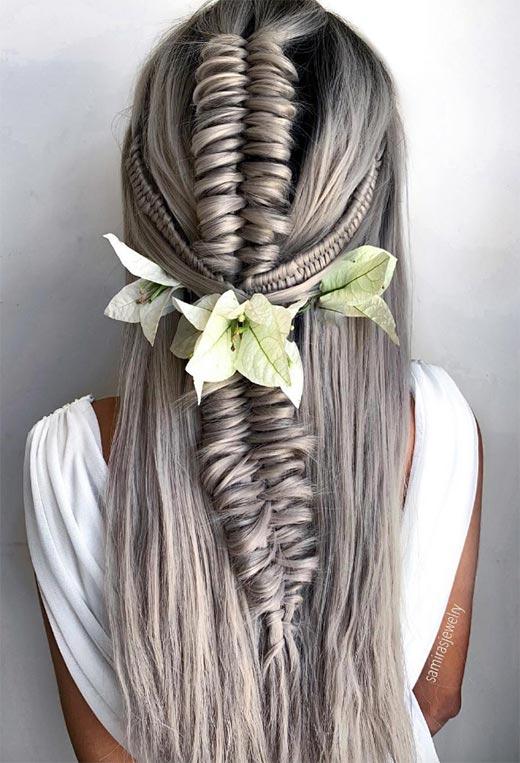 half up half down hairstyles ideas30