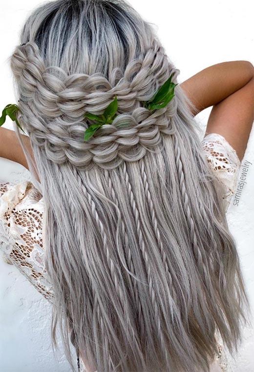 half up half down hairstyles ideas31