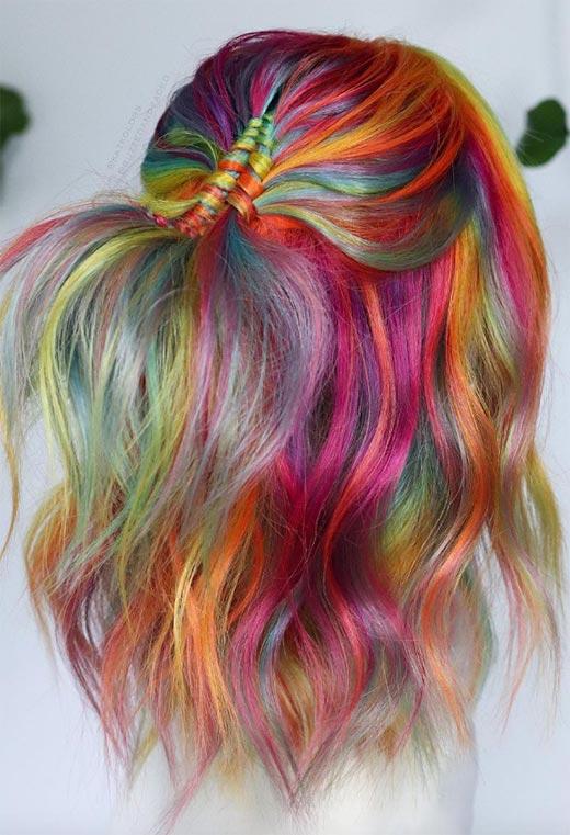 half up half down hairstyles ideas34