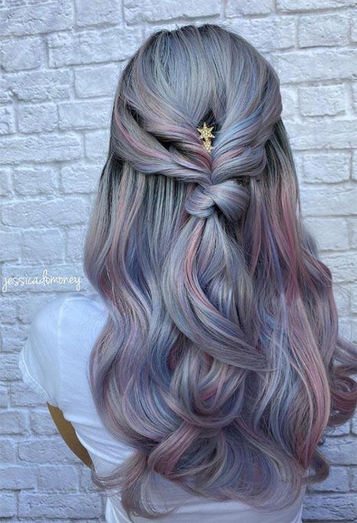 half up half down hairstyles ideas35