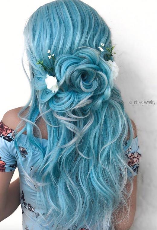 half up half down hairstyles ideas37