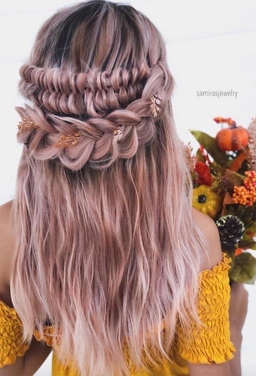 half up half down hairstyles ideas40
