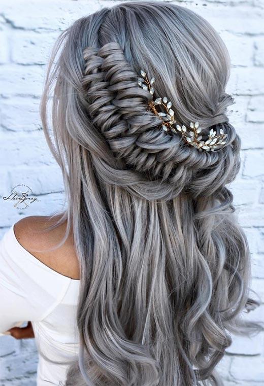 half up half down hairstyles ideas42