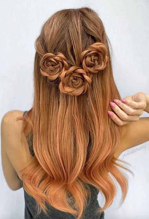 half up half down hairstyles ideas46