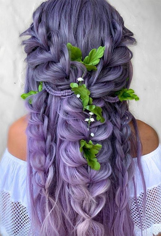 half up half down hairstyles ideas48