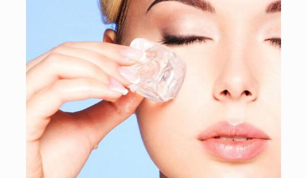 ماسک یخ برای درمان روزنه باز و منافذ باز پوست، درمان روزنه باز با یخ